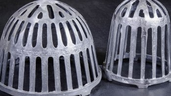 Grey Metal Strainer for Building