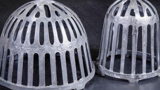 Grey Metal Strainer for Building